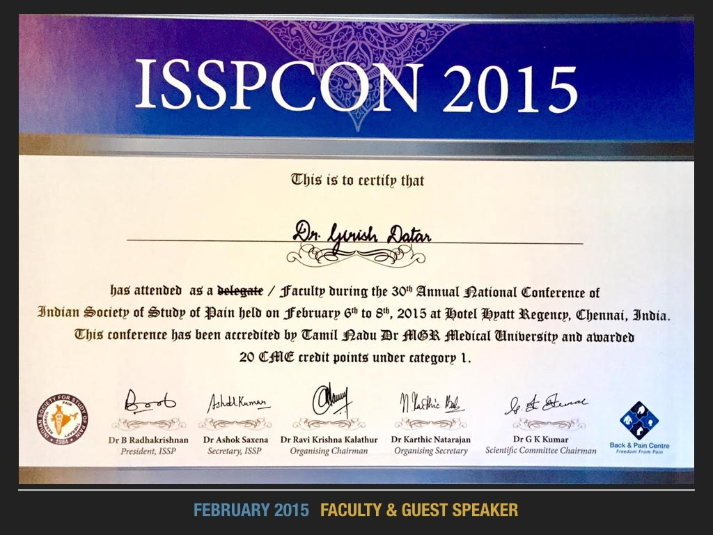 ISSPCON 2015, Faculty & Guest Speaker