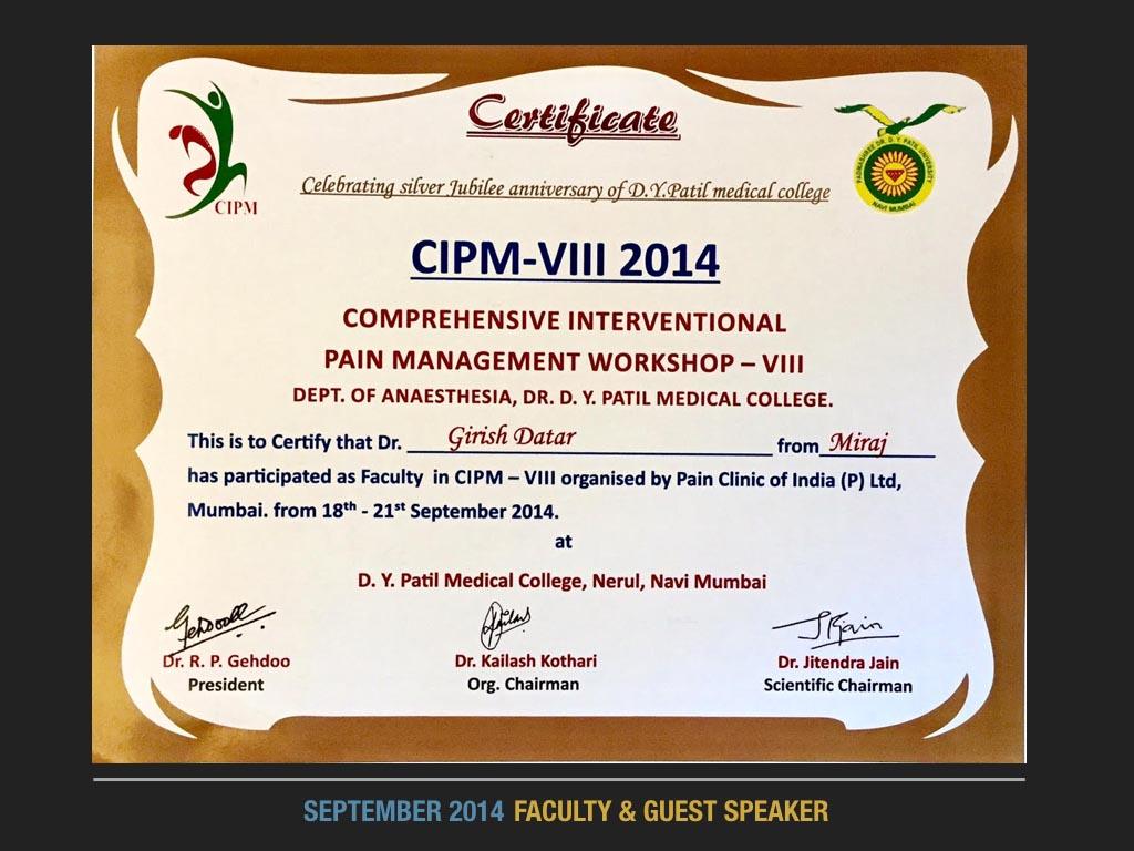 September 2014 Faculty & Guest Speaker