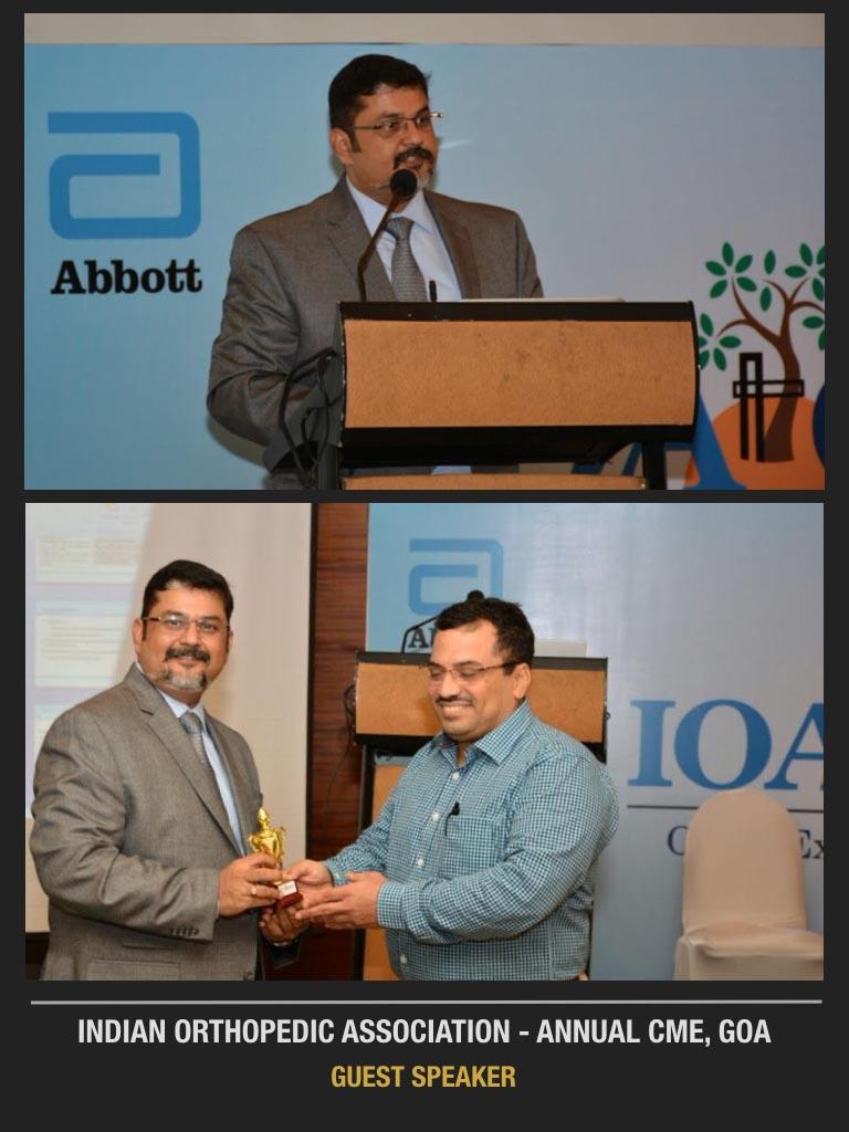 Indian Orthopedic Association-Annual CME, Goa Guest Speaker