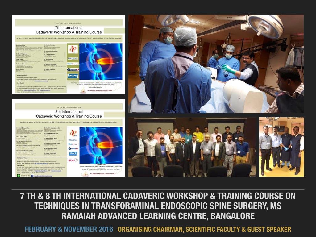 February & November 2016 Organising Chairman, Scientific Faculty & Guest Speaker