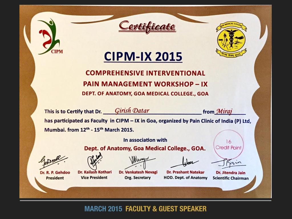 March 2015 Faculty 7 Guest Speaker