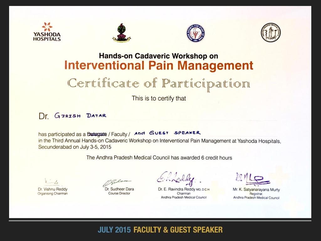 July 2015 Faculty 7 Guest Speaker